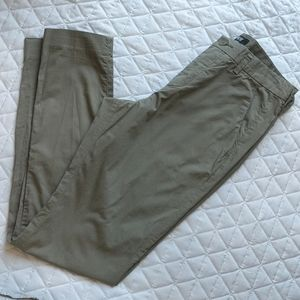 H&M straight leg high rise pants olive color